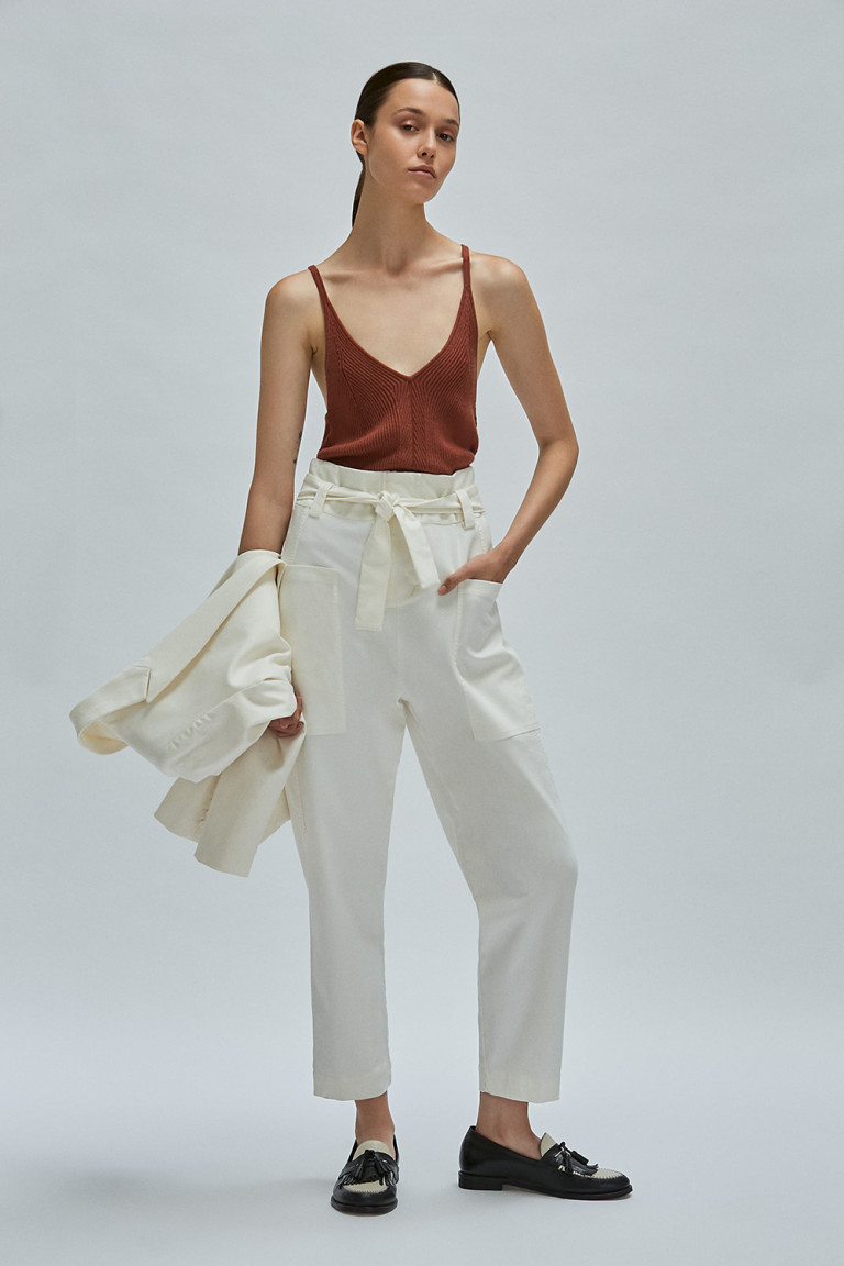 PANTALON SLOUCHY AKIN  OFF WHITE