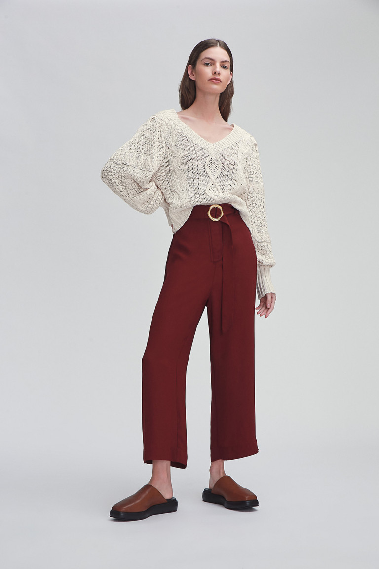 PANTALON CORTO ADDIE BORDEAUX